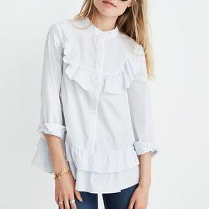 Madewell X Karen Walker Striped Annie Shirt